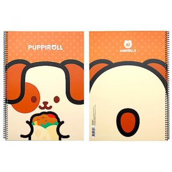 Puppiroll Wirebound Notebook