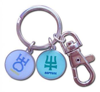 Sailor Uranus & Sailor Neptune Symbol Metal Keychain