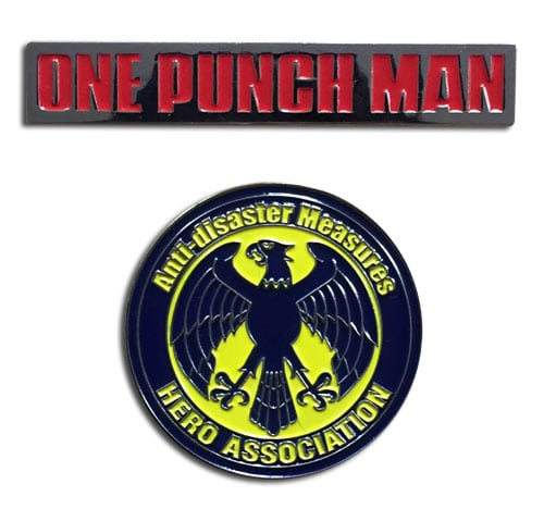 One Punch Man & Heroes Association Pin Set