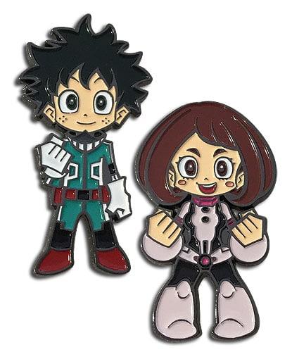 Deku & Ochaco Pin Set