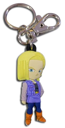 Android 18 PVC Keychain
