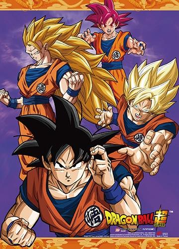 Goku Saiyan Wall Scroll Pose 1