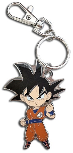 SD Goku Metal Keychain Pose 1