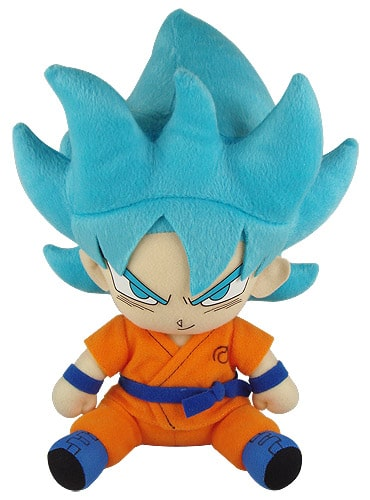Super Saiyan Blue Goku Sitting Plush Pose 1