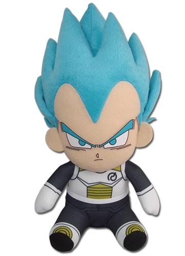 Super Saiyan Blue Vegeta Sitting Plush Pose 1