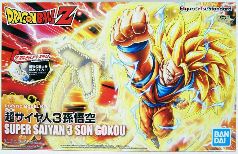 Super Saiyan 3 Son Goku Figure Rise Kit Package Renewal Version Box